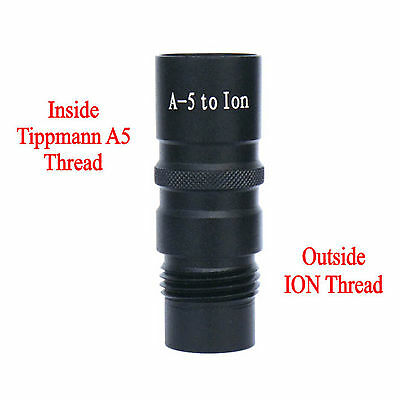 New Paintball Barrel Adapter  - Connects to ION,Inside Tippmann A5