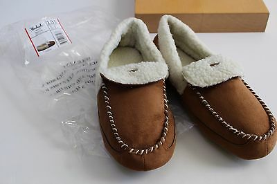 Men's Size 12 Woolrich Overlook Chestnut Slippers House Shoes NEW Moccasins