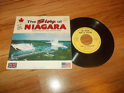 "The story of Niagara-George Robertson-Canadian 7"" single 1960's"