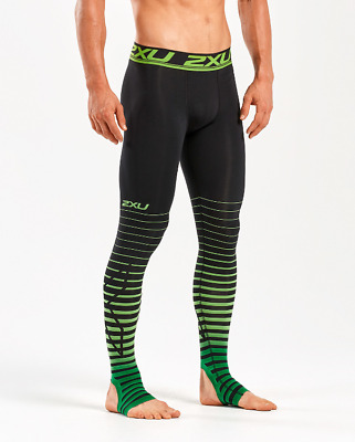 New 2XU Men Power Recovery Compression Tights w. Graduated & Overfoot Stamping