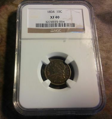 1834 Capped Bust Dime 10C - NGC  XF 40  BEAUTIFUL COIN ((304))
