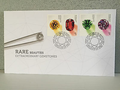 Brand New Mint Condition 2017 Rare Gemstones First Day Cover Stamp Envelope