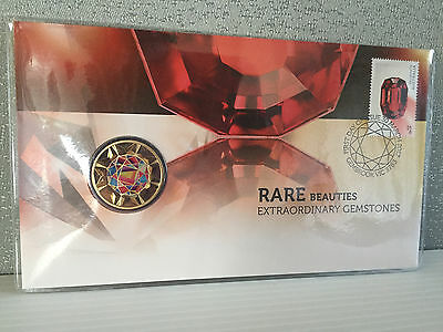 New Mint Uncirculated Rare Beauties Gemstones $1 Coin PNC Limited to 7500
