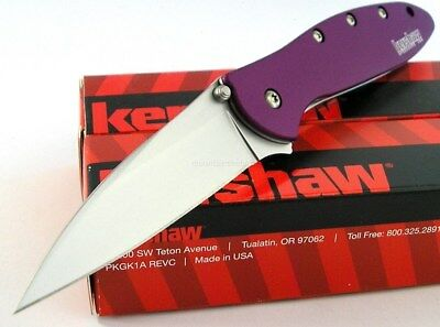 Kershaw USA Leek Speed Assisted Opening Sandvik Purple Knife CLAM PCK 1660PUR