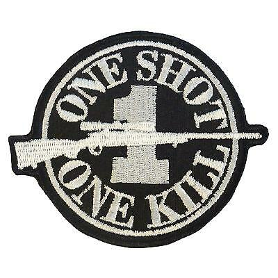 ONE SHOT KILL sniper morale embroidered chris kyle milspec sew iron on patch