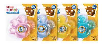 Nuby Water Filled Baby Teether Assorted Colours 3M+ Sotthing Teether