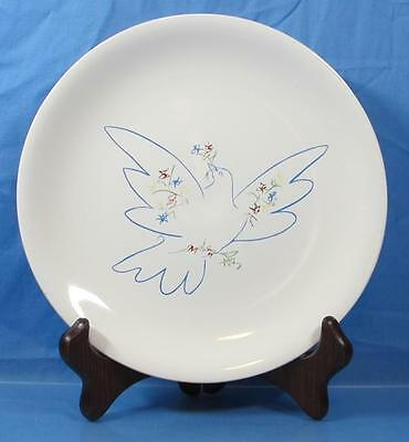 """SLN9 by Salins (France) ~ Picasso's Dove Luncheon Plate ~ 9 1/2"""""""