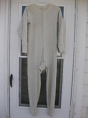 VTG 30s 40s JC PENNEY CO Full Union Suit Long John Underwear Trap Door USA