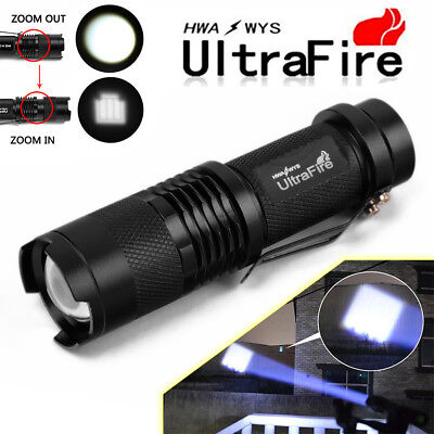 UltraFire 8000 Lumens Zoomable 3Modes CREE XML T6 LED Flashlight Aluminium Torch