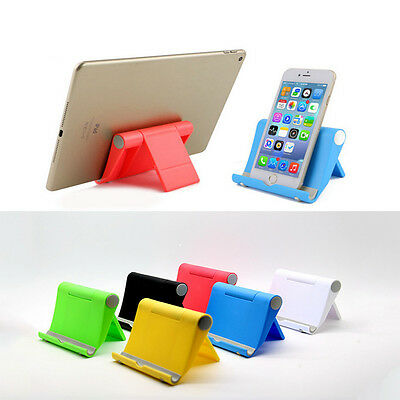 Universal Desktop Foldable Cell Phone Stand Holder For Samsung LG iPhone Tablet