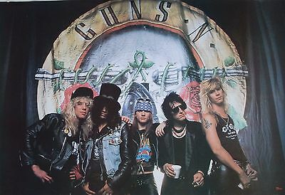 "Guns N' Roses ""group Standing In Front Of Band's Logo"" Poster From Asia"