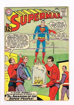 Superman # 158  The Invasion of the Super-People ! grade 3.5 scarce book !!