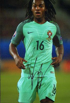 12x8 HAND SIGNED PHOTO RENATO SANCHES PORTUGAL & BAYERN MUNCH (2)
