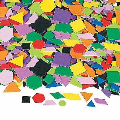 1000 Pieces Mosaic Geometric Foam Self-Adhesive Shapes