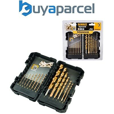 DeWalt DT7914 14 Piece Titanium Drill Bit Set – HSS Metal Wood Plastic