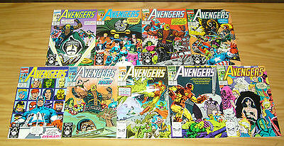 Avengers #325-333 VF/NM complete run by larry hama  first appearance of RAGE 326