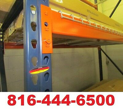 "Pallet Rack 42"" x 114"" Interlake Teardrop Warehouse Racking Upright Shelving"