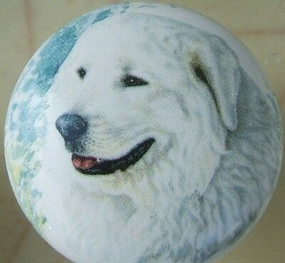 Cabinet Knob  Great Pyrenees Monica Heller Cole DOG knobs