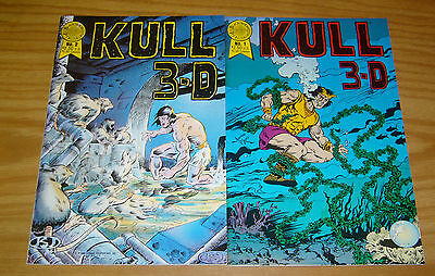Kull 3-D #1-2 VF/NM complete series - blackthorne - robert e. howard set lot