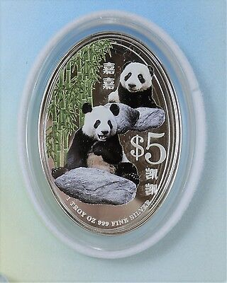 Singapore 2012 - $5 - Giant Panda Silver Proof - Wonderful Packing And Coin!