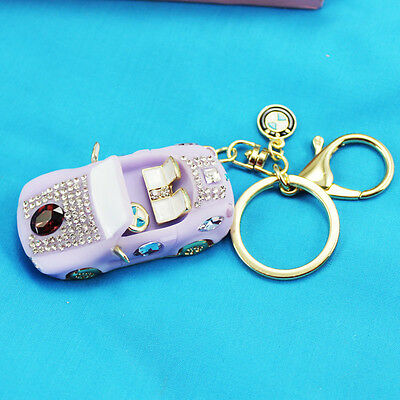 Idea Gift roadster Keychain Crystal Keyring Key Ring Chain Bag Charm Pendant