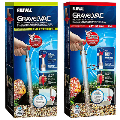 Fluval Gravel Vac Multi Substrate Cleaner for Small - Large Aquarium Fish Tanks