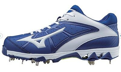 Mizuno 9-Spike Swift 4 Women's Metal Softball Cleats NIB Royal/White Size 8