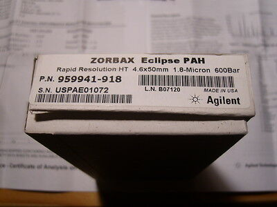 HPLC Säule Cartridge Agilent Zorbax Eclipse PAH 4,6 x 50 mm 1,8 µ USA 959941-918