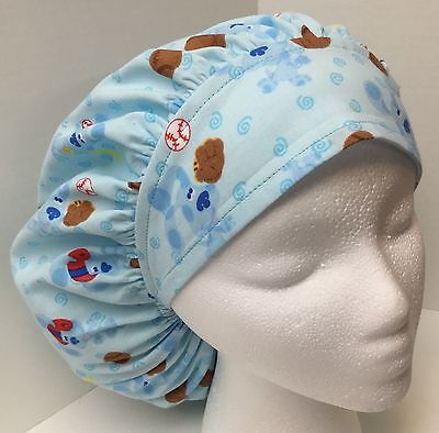 Blues Clues size: Large Medical Bouffant OR Scrub Cap Surgery Hat