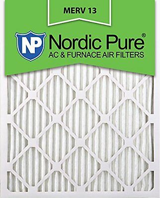 Nordic Pure 18x25x1 MERV 13 Pleated AC Furnace Air Filter Box of 6 1in