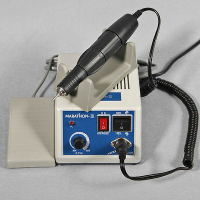 Dental Lab MARATHON Poilshing Handpiece 35K RPM Micromotor Jewellery 2.35mm Bur