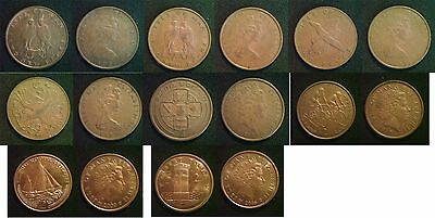 ISLE of MAN 2 Pence 1971 to 1989 Incl Mint Mark Types READ DESRIPTION