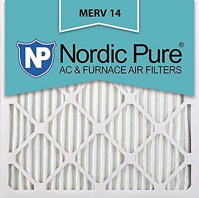 Nordic Pure 20x20x1M14-6 Pleated AC Furnace Air Filter Box of 6