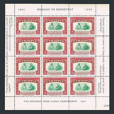 Ethiopia 278-280 sheets/12,MNH-. Haile Selassie,Franklin D.Roosevelt,1947.