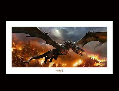 Hobbit, Smaug Over Lake-Town, Art Print. Dragon. Official Weta Collectables. New