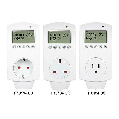 Electric LCD Floor Heating Programmable Thermostat Plug Controller Outlet Z4R7