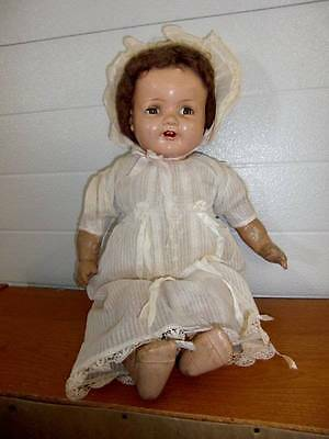 "American Character ~ Antique 20"" Chuckles Composition Doll 1930's"