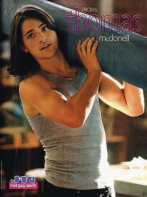"""THOMAS McDONELL - 11"""" x 8"""" MAGAZINE PINUP - POSTER - TEEN BOY ACTOR"""