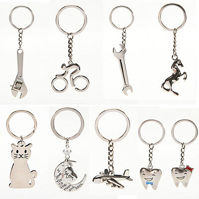 Creative Metal Keychain Key Ring Key Chain Key 12 Pattern Choose Decor Cute
