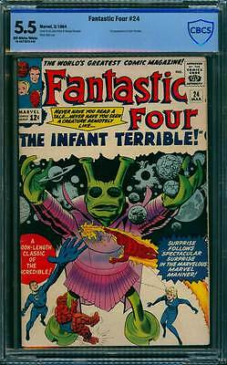 Fantastic Four # 24  The Infant Terrible !  CBCS 5.5 scarce book !