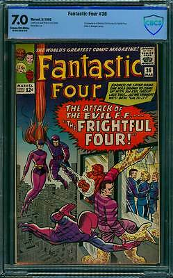 Fantastic Four # 36  1st Medusa & the Frightful Four !  CBCS 7.0 scarce book !