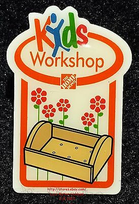 LMH PINBACK Pin Button  PLANTER FLOWER BOX  Home Depot Kids 2008 Workshops