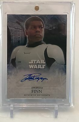 John Boyega Finn Topps Star Wars The Force Awakens Authentic Autograph Auto Card