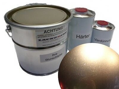 3,5 Liter Set 2K Car paint Diamond Silver Metallic + Lacque & Dilution Trend