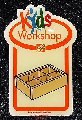 LMH PINBACK Pin Button  MEMORY BOX Tray Storage  Home Depot Kids 2007 Workshop