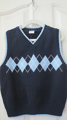 Gymboree Boys Spring Car Classic Sweater Vest Navy Argyle NEW NWT XS 3-4 Easter
