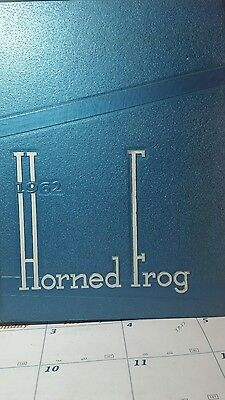 1962 Horned Frog Yearbook,Texas Christian University,Fort Worth,TX.