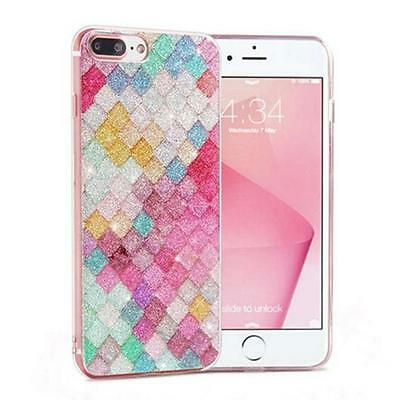 Fashion Colorful Mermaid Fish Scale Cover Case For iPhone 6/6s/7/7s Plus - LD