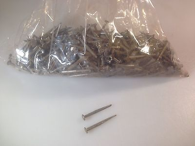 """Vintage Square Cut 1-1/2"""" Long Steel Nails 2 Lbs"""