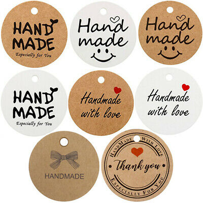 100Pcs Craft Paper Gift Tags Label Luggage Wedding Gift Tags & 20M Jute Strings